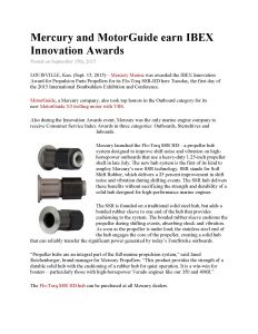 Mercury and MotorGuide earn IBEX Innovation Awards